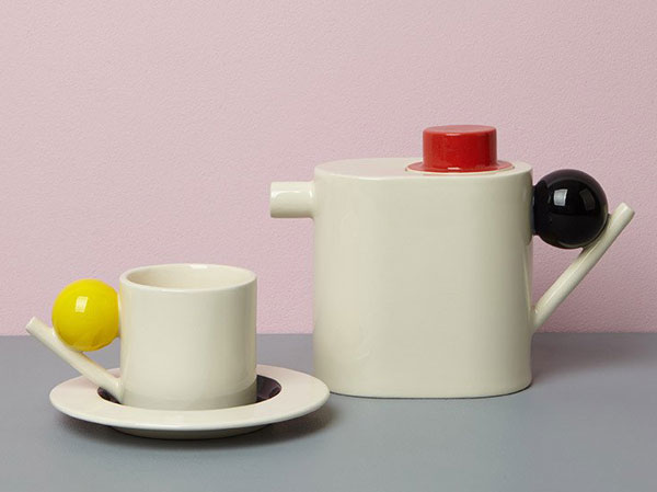 Bauhaus-inspired geometric ceramics by Design K