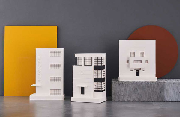 Bauhaus architectural sculptures by Chisel & Mouse