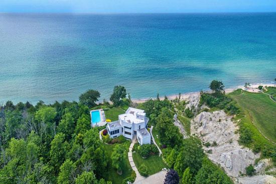 Bauhaus-inspired property in South Haven, Michigan, USA