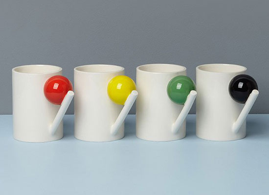 Bauhaus-inspired geometric ceramics by Design K