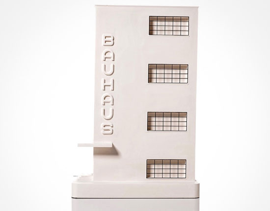 100th anniversary Bauhaus architectural sculptures by Chisel & Mouse