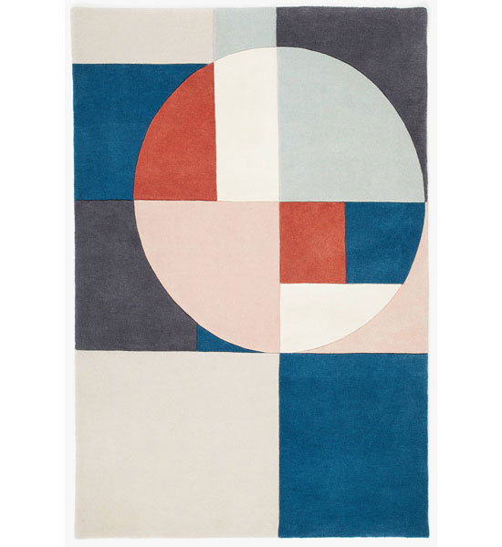 Tia Bauhaus-style rugs by John Lewis and Partners