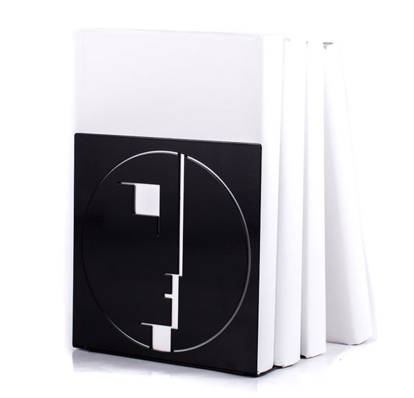Bauhaus-themed bookends by Design Atelier Article