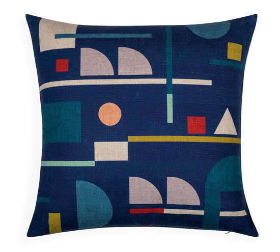 Bauhaus cushions by Juliette Van Rhyn at Heal's