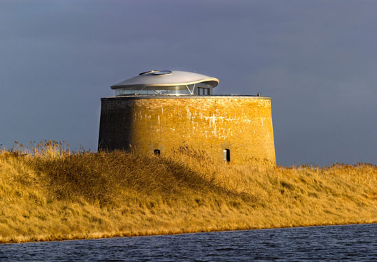 On the market: Award-winning 19th century martello tower conversion in Bawdsey, Suffolk
