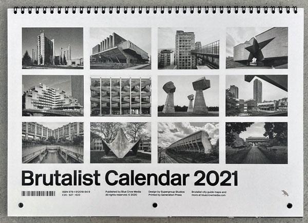 31. Brutalist Calendar 2021