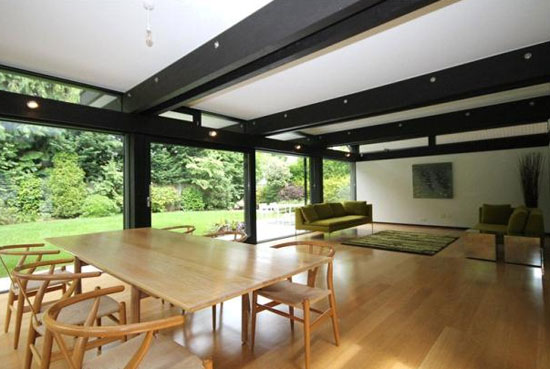 Five-bedroom contemporary modernist Huf Haus in Beaconsfield, Buckinghamshire