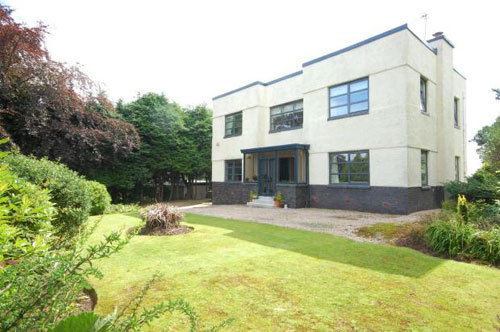 On the market: Four-bedroomed art deco house Highfield house in Bearsden, Glasgow