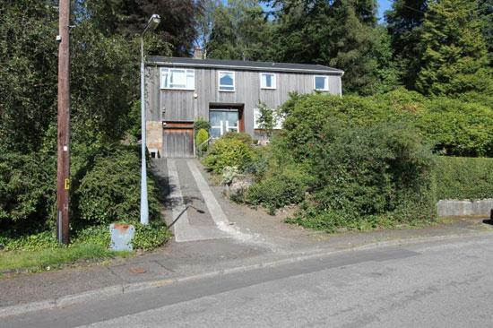 1960s modernist property in Bearsden, East Dunbartonshire, Scotland
