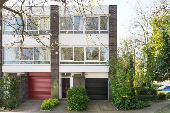 On the market: 1970s Galberg & Weal-designed modernist townhouse in Beckenham, Kent