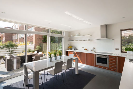 1970s Galberg & Weal-designed modernist townhouse in Beckenham, Kent