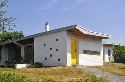 On the market 1950s modernist three-bedroomed house by Willy Van Der Meeren in Teralfene, near Brussels, Belgium
