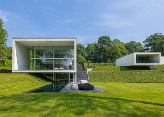 Bruno Erpicum-designed modernist property in Rhode Saint Genese, Belgium