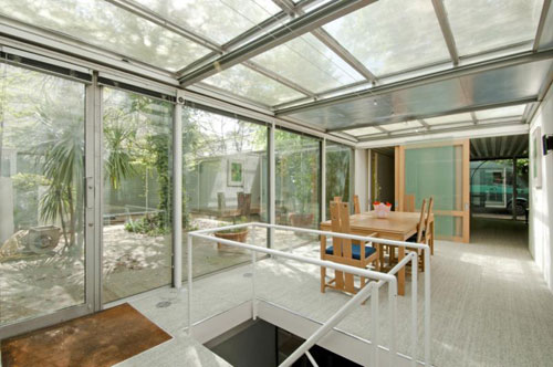 1970s steel-framed house in Belsize Park, London NW3