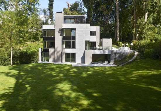 On the market: André Jacqmain-designed contemporary modernist property in Rhode-St-Genese, near Brussels, Belgium