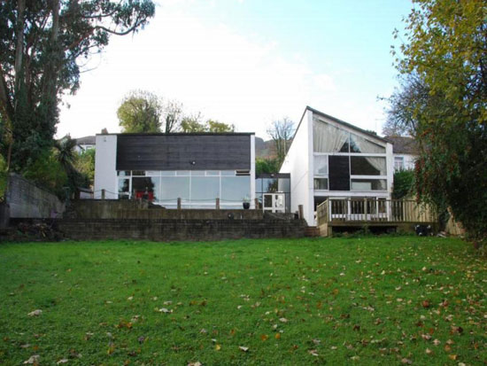 1960s modernist property in Newtonabbey, near Belfast, Northern Ireland