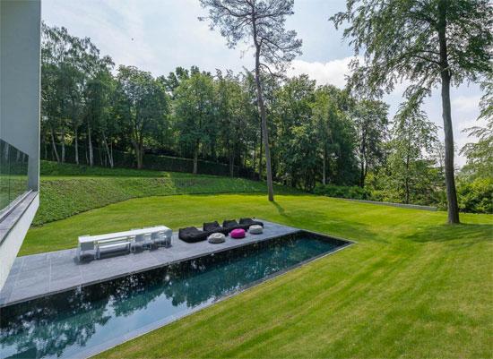Bruno Erpicum-designed modernist property in Rhode Saint Genese, Belgium