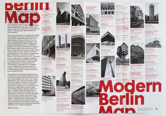 Out now: The Modern Berlin map by Blue Crow Media