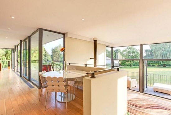 John Pardey-designed Cherry Eyot five-bedroom contemporary modernist property in Wargrave, Berkshire