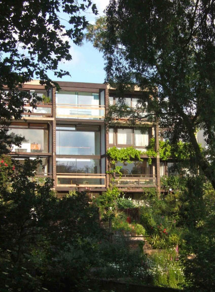 1950s Bill Howell and Stan Amis-designed four-storey modernist house in South Hill Park, Hampstead, London NW3
