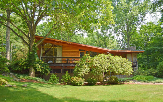 1950s David Henken-designed midcentury property in Pound Ridge, New York state, USA