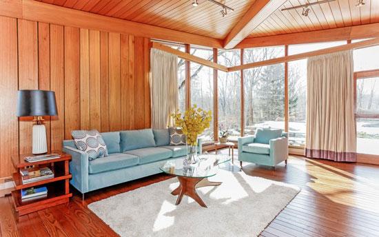 1950s David Henken-designed midcentury property in Pound Ridge, New York state, USA