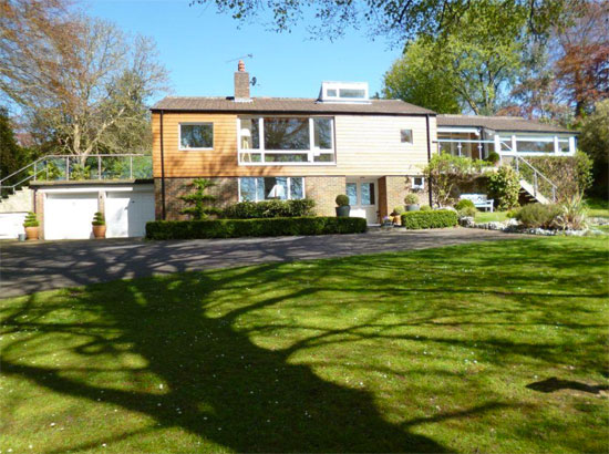 On the market: 1960s Edward Samuel-designed The Long House in Chipstead, Surrey