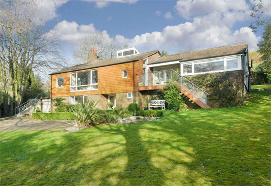 1960s Edward Samuel-designed The Long House in Chipstead, Surrey