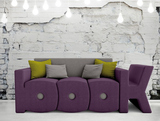 Pop art-style Book Sofa by Prospettiva
