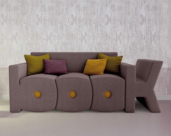 Design spotting: Pop art-inspired Book Sofa by Prospettiva