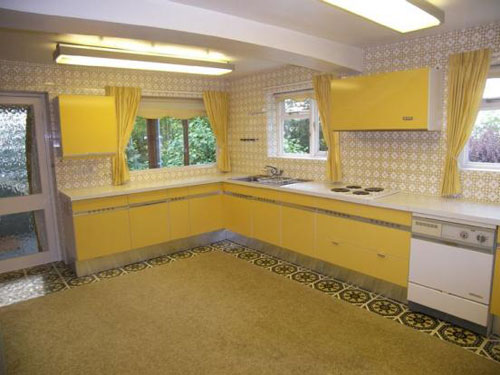 On the market 1970s wooddean house modernist property in for 70s style kitchen cabinets