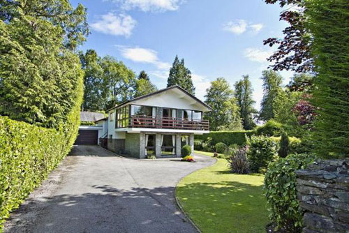 On the market: Midcentury-style four-bedroomed house in Bowness-on-Windermere, Cumbria