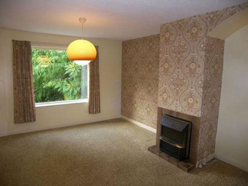1970s living room in detached house at Bowness on Windermere