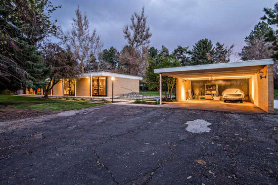 1950s modernism: Dean Gustavson-designed property in Holladay, Utah, USA
