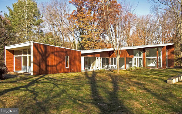 1950s Marcel Breuer-designed The Lauck House in Princeton, New Jersey, USA