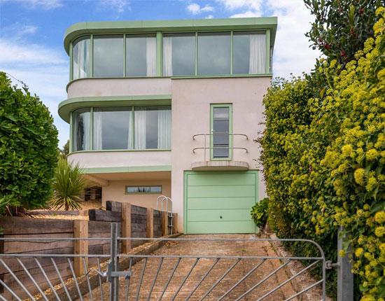 1930s art deco house in Brighton, East Sussex