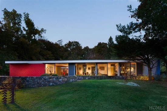 On the market: 1950s Marcel Breuer-designed midcentury-modern property in Croton-On-Hudson, New York State, USA