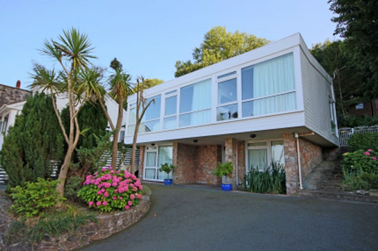 Broadlinks House 1960s modernist property in Broadsands, Paignton, Devon