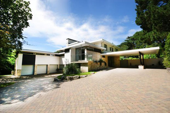 Midcentury-inspired five-bedroom property in Branksome Park, Poole, Dorset