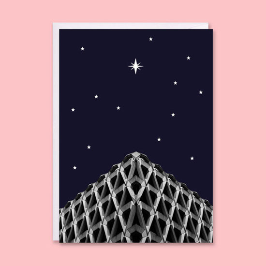 Brutalist Christmas cards by In From The Storm