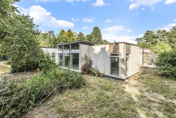 1960s modernist renovation project in Brettenham, Suffolk