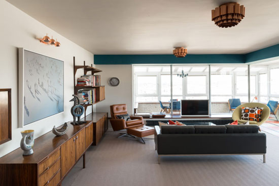 Apartment in the 1960s Richard Seifert-designed Bedford Towers in Brighton, Sussex