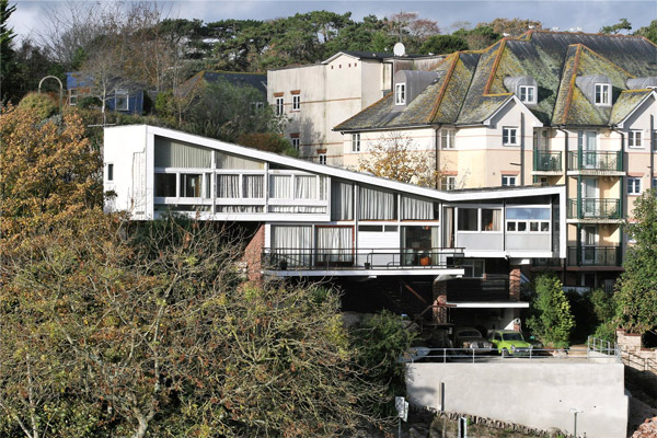 1960s Mervyn Seale-designed Parkham Wood House in Brixham, Devon