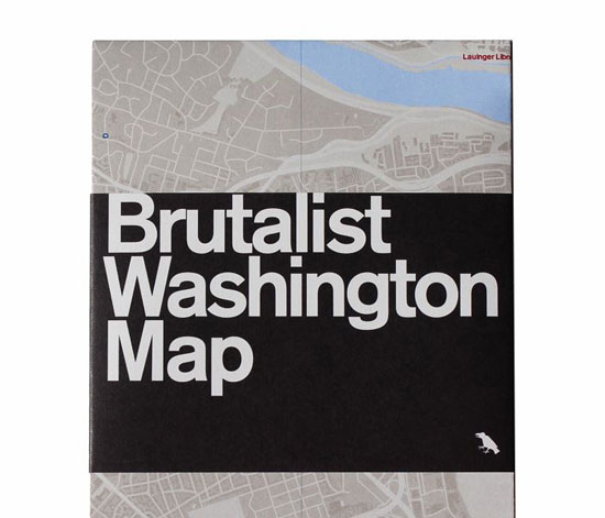 Blue Crow Media introduces the Brutalist Washington Map