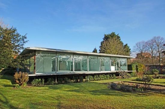 On the market: 1970s Sir Michael Hopkins-designed four bedroom glass house in Bury St Edmunds, Suffolk