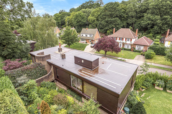 1970s Geoffrey Carter modern house in Chislehurst, Kent