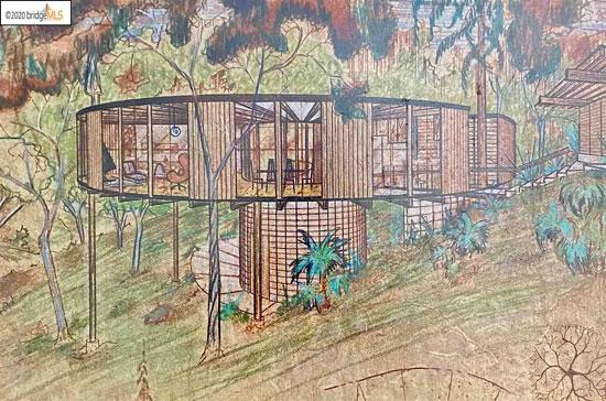 1970s Leon Meyer Round House in Piedmont, California, USA