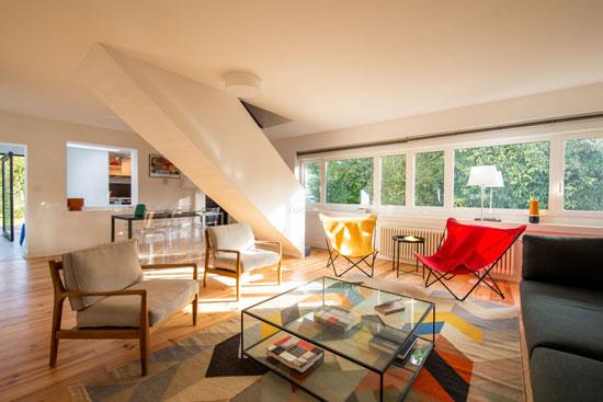 1920s Le Corbusier zig-zag house in Pessac, France