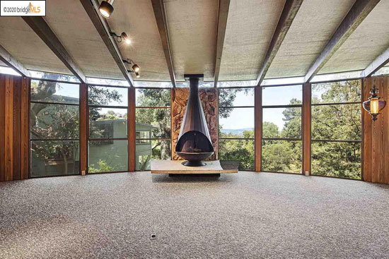 1970s Leon Meyer Round House in Piedmont, California, USA