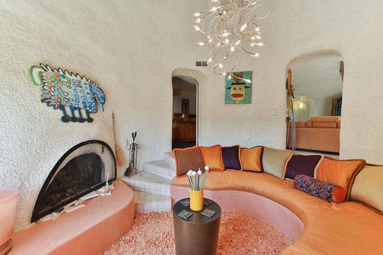 1970s William Nicholson-designed Flintstone House in Hillsborough, California, USA